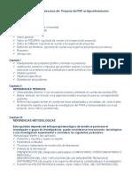 Propuestas de Las Estructura de Los Proyectos