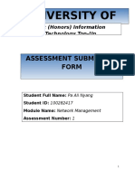 Network Management Assessment 1