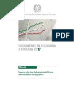 DEF2017-Rapporto Sullo Stato Di Attuazione Della Riforma Della Contabilitx e Finanza Pubblica-2017