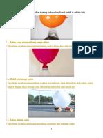 5 Percobaan Sains Menyenangkan Dengan Menggunakan Balon