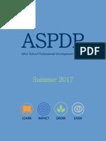 ASPDP Summer 2017 Course Catalog
