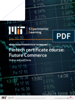 MIT Fintech Certificate Course Future Commerce Information Pack