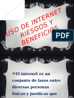 Uso de Internet Riesgos y Beneficios