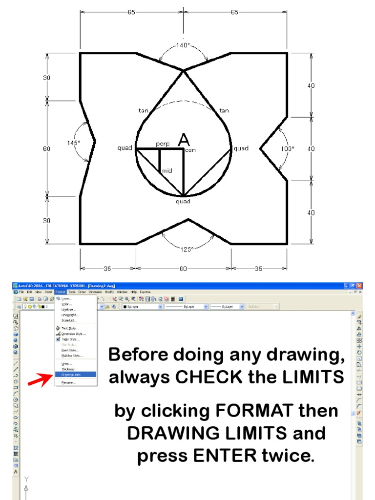 autocad Construction Lines Angles Geometry Space