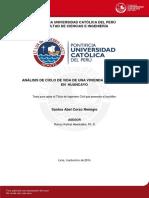 Analisis de Ciclo de Vida de Una Vivienda Unifamiliar en Huancayo