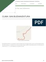 Clima San Buenaventura_ Temperatura, Climograma y Tabla Climática Para San Buenaventura - Climate-Data