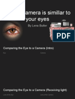 how a camera is simillar to your eyes
