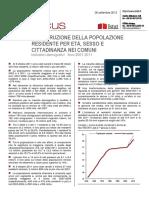 RICOSTRUZIONE DELLA POPOLAZIONE RESIDENTE PER ETÀ, SESSO E CITTADINANZA NEI COMUNI