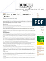 THE TRUE SALAT ACCORDING TO QURAN - International Committee for the Restoration of the Quran AS Sunnah.pdf