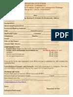 Registration Form National Conference
