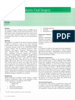Guideline on Pediatric Oral Surgery