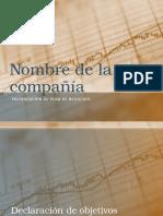 Nombre de La Compañía - Plantilla