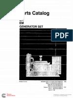 928-0220 Onan EK EM (Asst'd Specs) Parts Manual (09-1993)