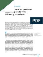 Genero y Urbanismo Isabela Velazquez