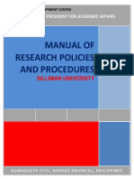 Research Manual_Policies and Procedures