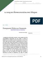 Presupuesto Público en Venezuela - El Blog de Libreeconomia.over-blog