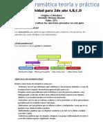 Guia de Gramática para estudiantes de 2do año profesora Rosana Álvarez área Lengua y Literatura