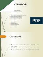 Diapositivas de Las Dimensiones de La Practicadocente