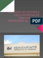 auditora de gestión a la cooperativa de consumo