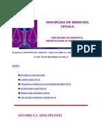 Disciplina de Medicina Legala cdsad