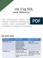 Oracle SQL Statements sample