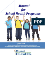Manual for School Health