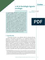 El Despliegue de La Sociología Agraria Hacia La Agroecología