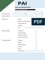 PAI Hoja de Respuestas y Datos Del Evaluado