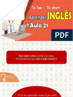 """● Aprender Inglês """"To Live and To Start"""" Aula 21  