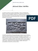 2.- Tecnicas de Arquitectura Tradicional China Ladrillos