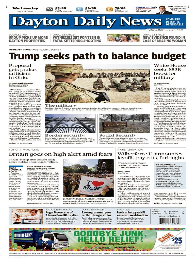 Dayton Daily News - May 24, 2017 | Business | Nature