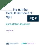 10 1047 Default Retirement Age Consultation