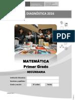 Prueba Diagnc3b3stica Del c3a1rea de Matemc3a1tica 1
