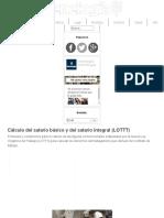 Cálculo Del Salario Básico y Del Salario Integral (LOTTT) – Venelogía