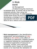 Chapter 1 Risk Management