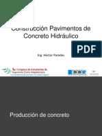Proceso Constructivo Pavimento de Concreto