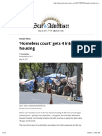 'Homeless Court' Gets 4 Into Housing