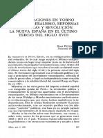 """Pietschmann, H. """"Consideraciones en Torno Al Protoliberalismo, Reformas Borbónicas y"""