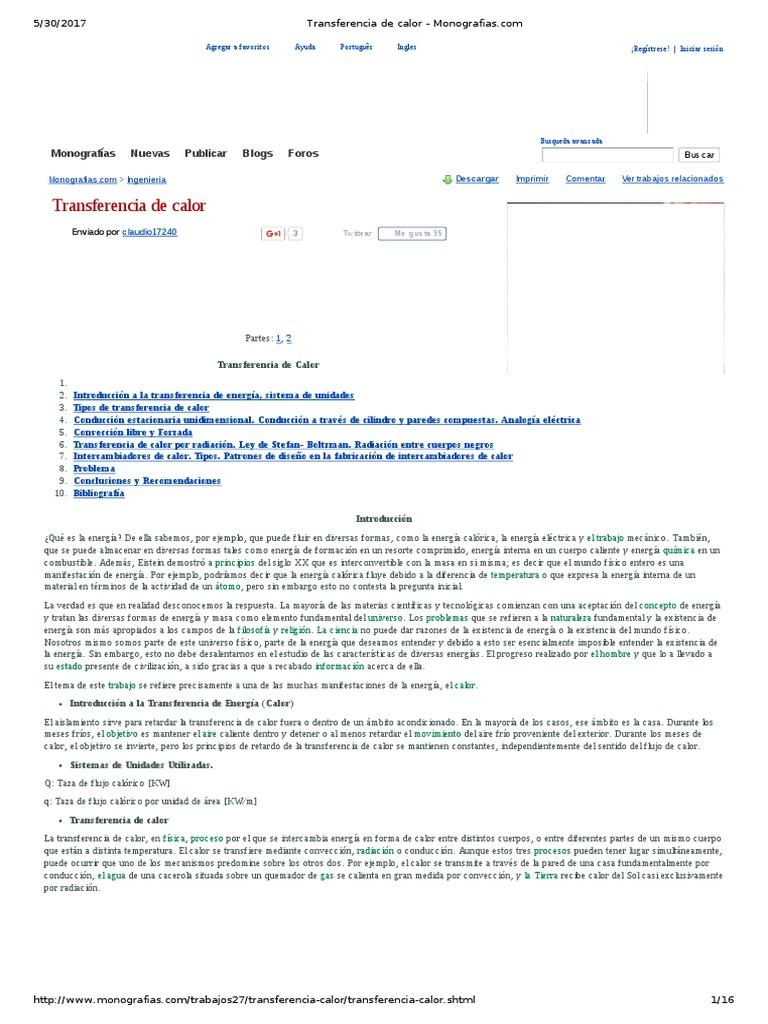 Transferencia de Calor - Monografias