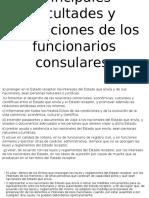 Principales Facultades y Obligaciones de Los Funcionarios Consulares