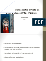 Autismo en Niu00F1as