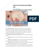 6 Mejores Leches de Formula Para Bebés Recién Nacidos