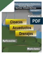 Cloacas Acueductos Drenajes - Inst. Universitario Politecnico -Activ.5