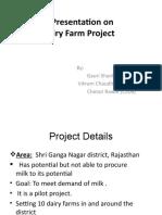 Project Presentation on dairy farm