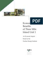 Economic Benefits Three Mile Island