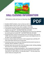 Hall Closing Info 2017