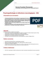 Psychopathologie Affections Neurologiques