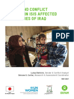 Gender and Conflict Analysis in ISIS Affected Communities of Iraq