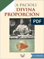 La Divina Proporcion - Luca Pacioli