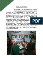 Nota de Prensa Jipash